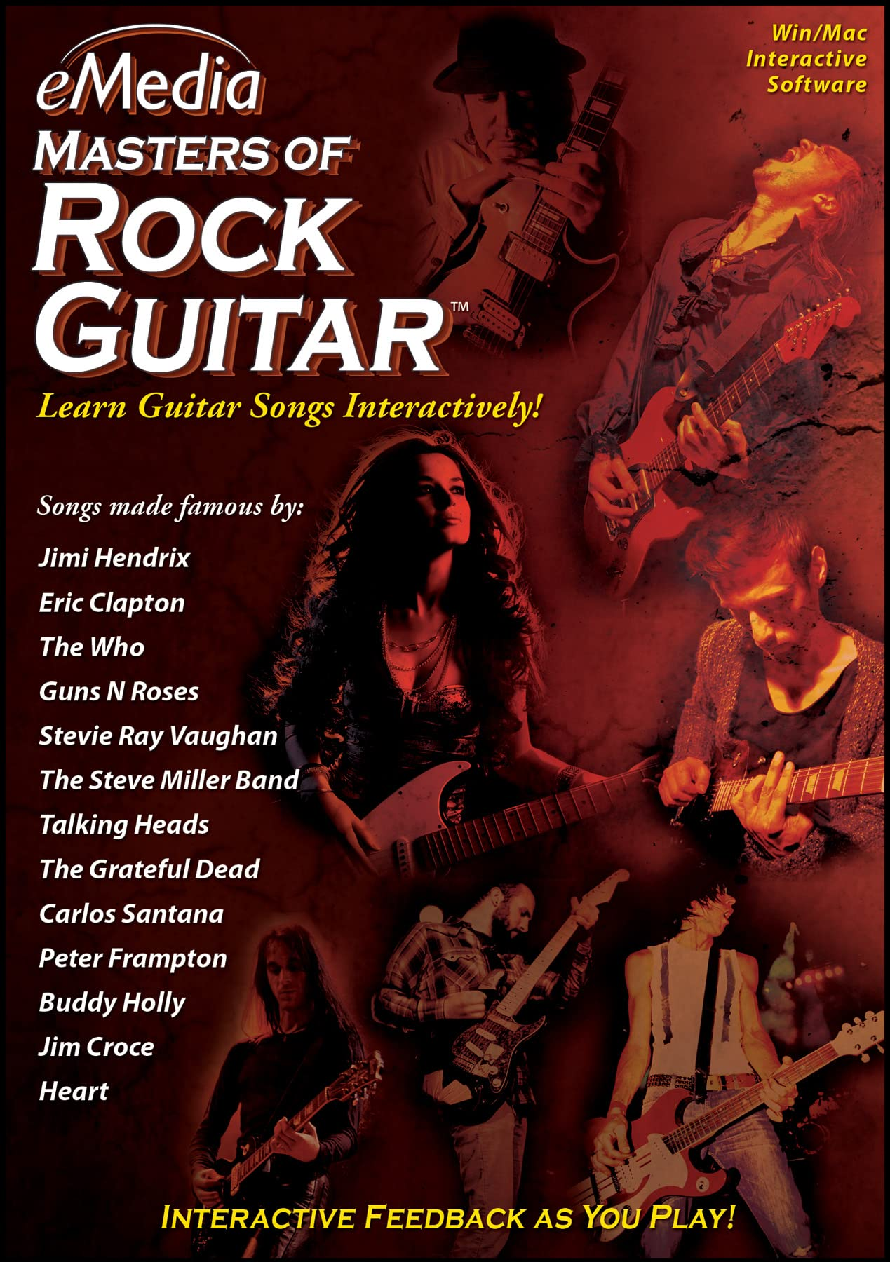 eMedia Masters of Rock Guitar Mac Download Learn at Home product image