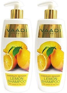 Vaadi Herbals Lemon with Tea Tree Extract Shampoo, Pack of 2 X 11.8 Oz