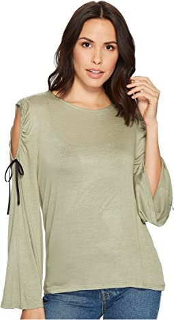 B Collection by Bobeau - Yara Cold Shoulder T-Shirt