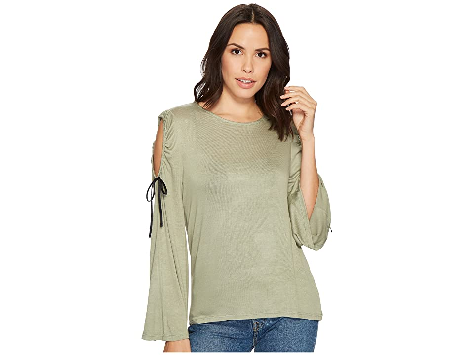 B Collection by Bobeau Yara Cold Shoulder T-Shirt (Fern) Women