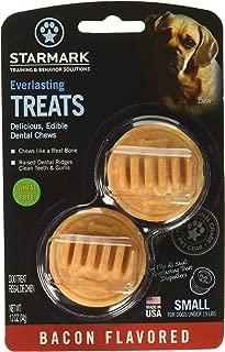 (3 Pack) StarMark Everlasting Bacon Dog Dental Chews, Small (2 Chews Per Pack / 6 Total)