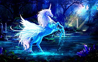 Classic Jigsaw Puzzle 1000 Piece Wooden Adults Children Puzzles-White Wings Unicorn 75X50Cm