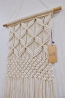 Gentle Crafts BoHo Macrame Hanging Wall Decor: Decorative Wall Art Cotton Rope Cord Woven..