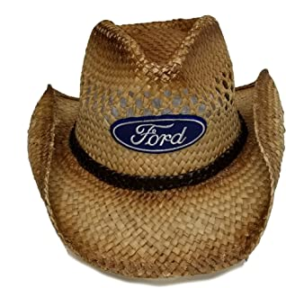 Ford Genuine Straw Cowboy Hat Cap