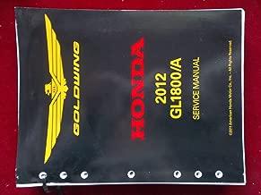 2012 GL1800/A GL 1800 A Goldwing Honda Service Shop Repair Manual 61MCA62