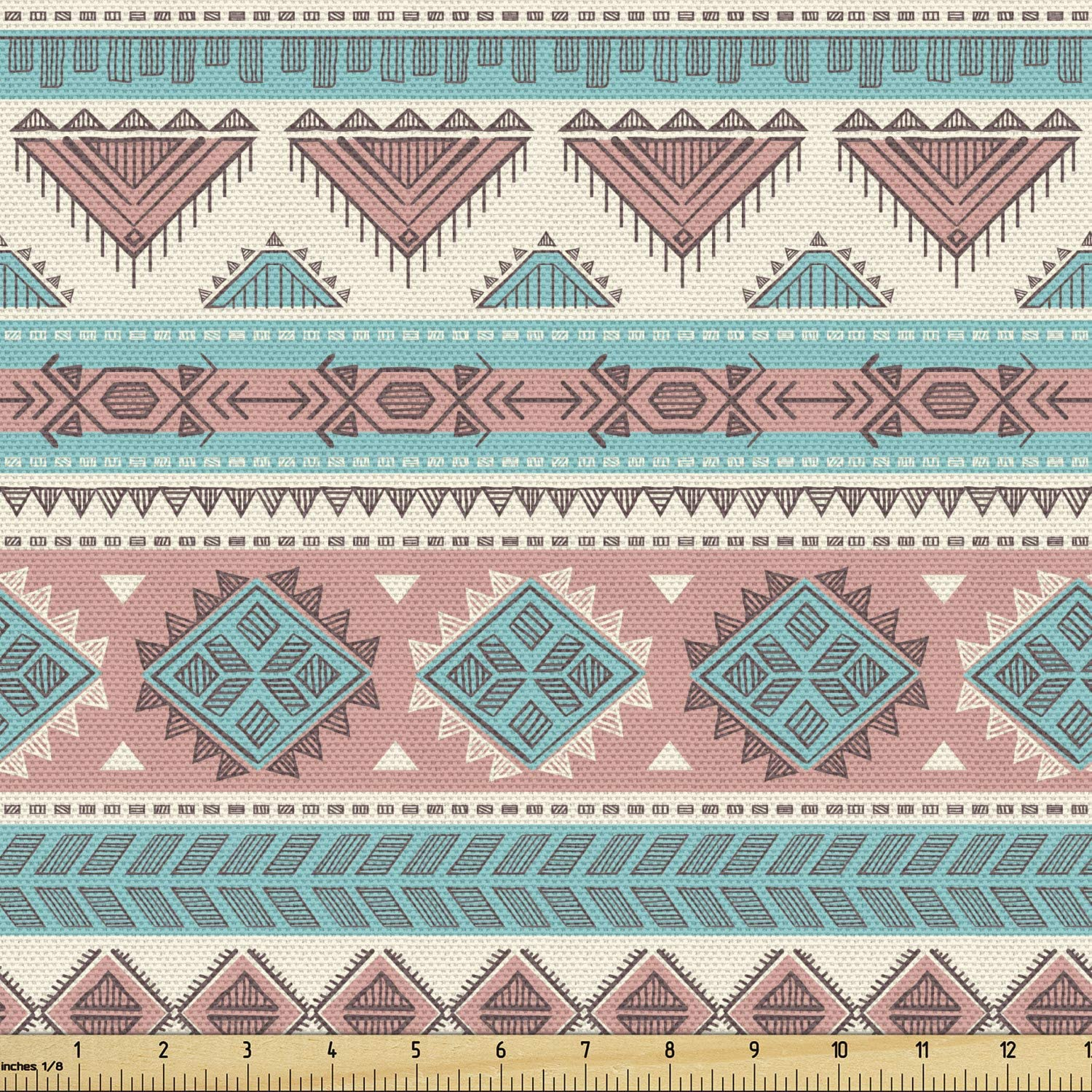 Ambesonne Tribal Fabric by The Vintage Native Design Max 60% OFF Recommended Yard Style