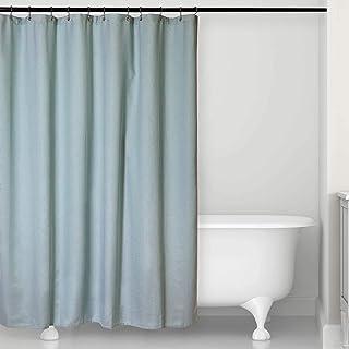 "Microdry Deluxe Textured Fabric Shower Curtain – Superior Fabric Quality – Luxury – Bathroom | 72"" x 72"" | (Aquifer)"