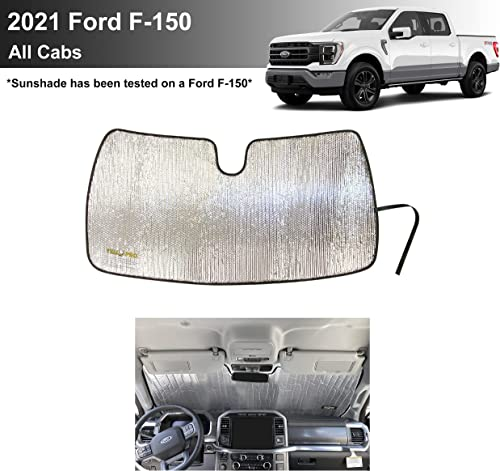 new arrival YelloPro Custom high quality Fit Front Windshield Reflective Sunshade for 2021 Ford F-150 2021 F150 Regular Cab, Super Cab, Super Crew Cab, Sun Shade Protector Accessories [Made in USA] online
