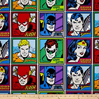 DC Comics Meet The Heroes Multi Fabric By The Yard