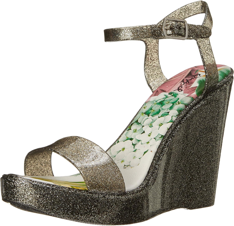 Qupid Women's Grand Wedge Sandal
