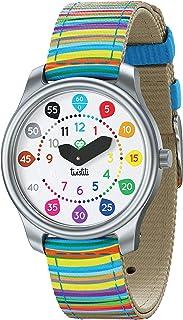 Twistiti Première Montre Pédagogique Enfant, Cadran Nombres Colorés pour Apprendre l'heure, Étanche 50M, Bracelets Interch...