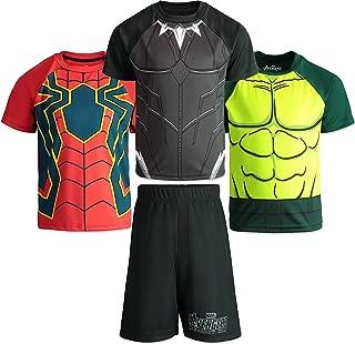 Marvel Avengers Infinity War Boys 4 Piece Athletic T-Shirts & Mesh Shorts Set