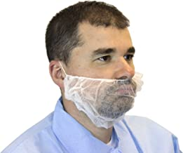 Beard Cover Protector & Breathable Spunbond Polypropylene Fabric, Latex Free, Non Slip & Comfy | For Cooking, Serving, Restaurants, Food & Healthcare Facilities | 100ct