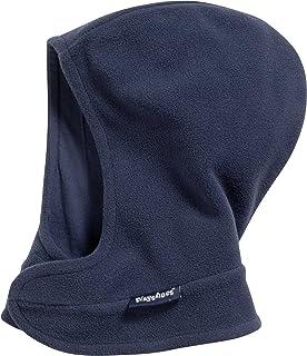 Playshoes barn-unisex fleece-halsduk med kardborrlås mjuk och andningsbar sovmössa, marin, 51/53 cm