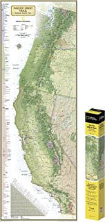 National Geographic: Pacific Crest Trail Wall Map in gift box Wall Map (18 x 48 inches) (National Geographic Reference Map)