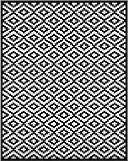 Green Decore Lightweight Outdoor Reversible Plastic Nirvana Rug (9 X 12, Black/White)