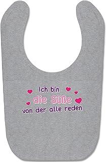 Shirtracer Sprüche Baby - Ich bin die Süße von der alle reden - Baby Lätzchen Baumwolle