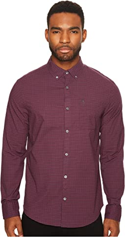 Original Penguin - Long Sleeve Stretch Gingham