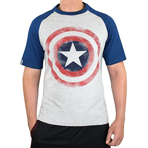 503c2137 Marvel Captain America Mens Avengers Captain America T-Shirt Grey