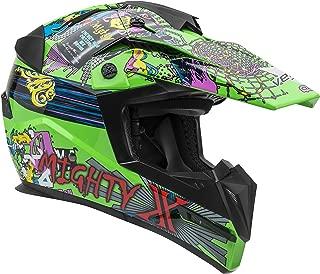 Vega Helmets MIGHTY X Kids Youth Dirt Bike Helmet – Motocross Full Face Helmet for Off-Road ATV MX Enduro Quad Sport, 5 Year Warranty (Super Fly Graphic,Medium)