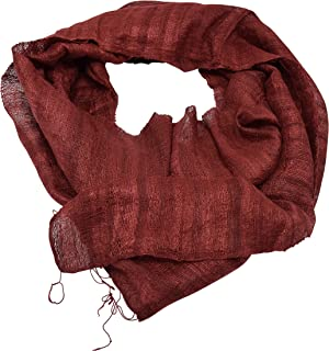 Anny's Men's Raw Silk Lightweight Neck Scarf One Size with Gift Bag
