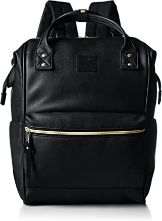 Anello AT-B1211-BK PU Leather Backpack, Large, Black