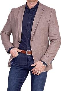 Unbekannt Men's Jacket New Wool/Polyester Classic Lapel Collar Blazer Two Button Jacket Suit Slim Fit Comfortable