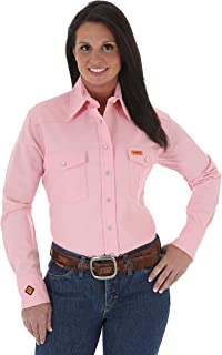 Women's FR Flame Resistant Western Twill Long Sleeve Snap Work Shirt