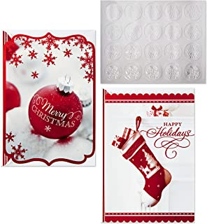 Hallmark Christmas Boxed Card Assortment, Ornament and Stocking (40 Cards with Envelopes and Gold Seals)