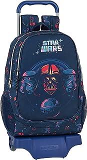 Mochila Escolar con Carro de Star Wars, 330x150x430mm, Multicolor