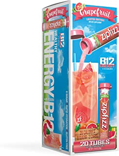 Zipfizz Healthy Energy Drink Mix, Hydration with B12 and Multi Vitamins, Pink Grapefruit, 20 Count