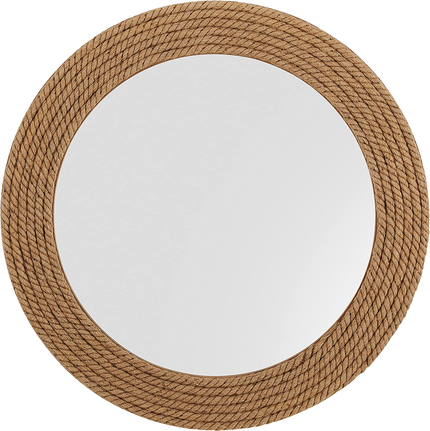 Stone & Beam Rustic Hemp Rope Mirror, 31.1  H, Brown
