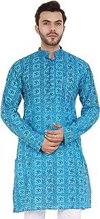 Latest Chikan Men's Cotton Regular Kurta