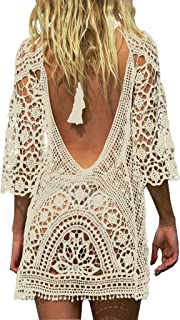 Jeasona Women's Bathing Suit Cover Up Crochet Lace Bikini...