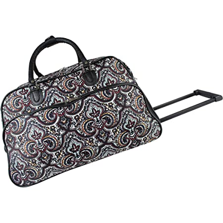 World Traveler 21 Inch Carry On Rolling Duffel Bag New Paisley One Size Travel Duffels