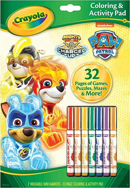 Amazon.com: Crayola Paw Patrol Color Wonder, Mess Free Coloring Pages &  Markers, Gift, Kids (04-6918): Toys & Games