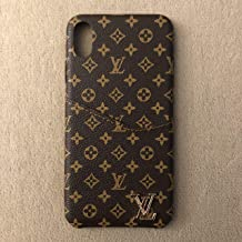 Wallet Leather Case Luxury Fashion Designer Monogram Pattern Inspired Compatible for iPhone Xs Max
