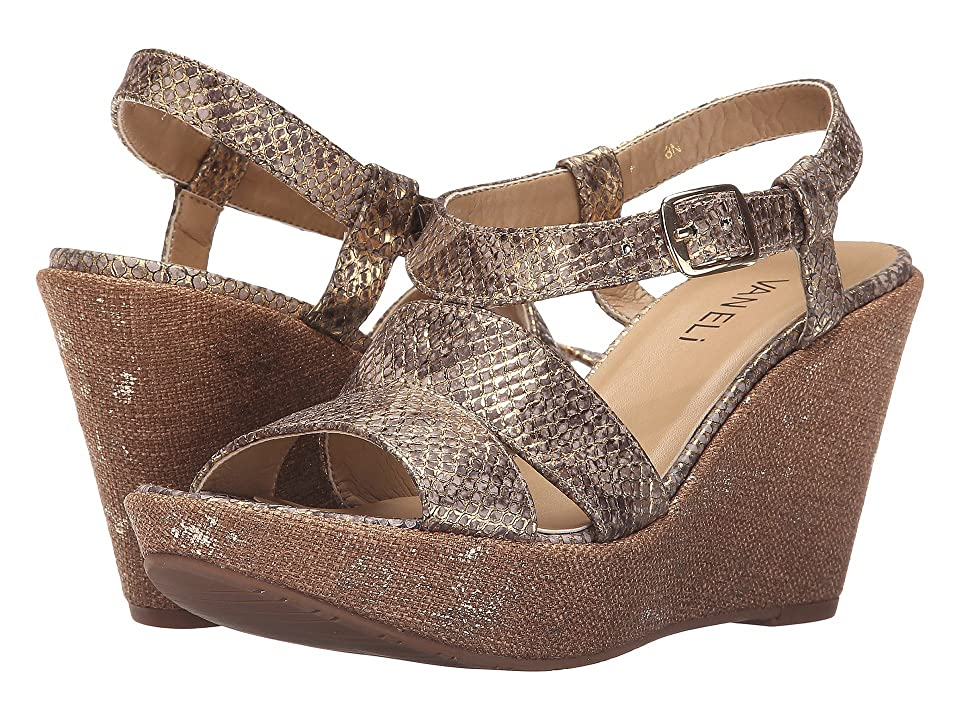 Vaneli Eliana (White/Gold Vippi Print/Bronze Metallic) Women