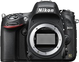 NIKON D610 - Cámara Réflex Digital de 24.3 MP, Full Frame, HDR, Disparo Ráfaga Silencioso, Pantalla 3.2