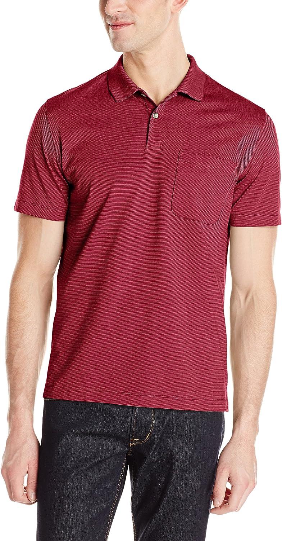 6398cb42 Van Heusen Heusen Heusen Mens Short Sleeve Feeder Stripe Polo Shirt c8bbd4