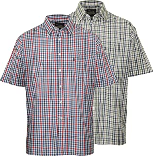 Champion Men Doncaster Casual Short Sleeve Shirt (Pack of 2)