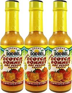 Scotch Bonnet Hot Pepper Sauce (Pack of 3), 5.5 oz Jar - Ocho Rios