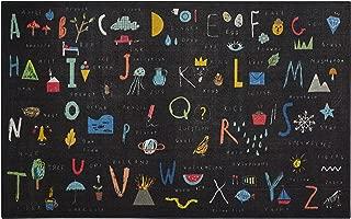 Mohawk Home Prismatic ABC Letters Black, 5'x8',
