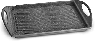 Lagostina Speciali Antiaderente Rectangular Sartén Parrilla - Cacerola (Rectangular, Sartén Parrilla, Negro, Aluminio, Aluminio, Cerámico, Gas, Halógeno, Placa de Sellado)