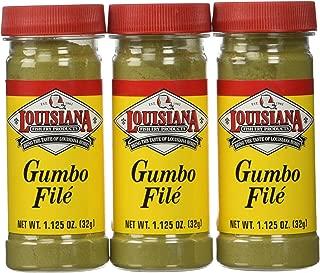 Louisiana Fish Fry Gumbo File Powder-3 (THREE) 1.1oz Bottles