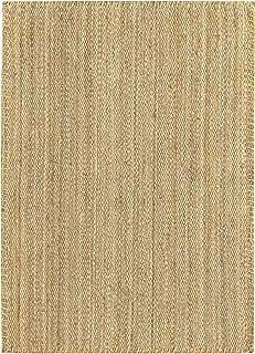 HAMID - Alfombra de Yute Granada 100% Fibra de Yute Natural - Alfombra Suave - Tejida a Mano - Alfombra de Salón, Comedor, Dormitorio, Pasillos, Entrada - Natural (170x120cm)