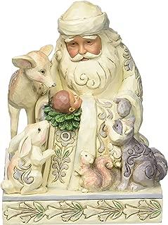 Jim Shore Heartwood Creek White Woodland Santa with Baby Jesus 4053687 Figurine