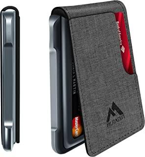 Mens Wallet Tactical Bifold Wallets for men Metal Leather RFID Blocking Aluminum Money Cards Holder Gifts for Men (Grey)