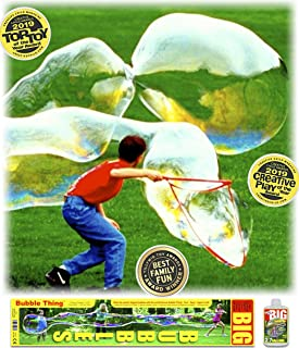 Bubble Thing Giant Big Bubbles Wand and Mix. Bubbles Biggest by Far (See Our Videos). 2019 TOP Toy.