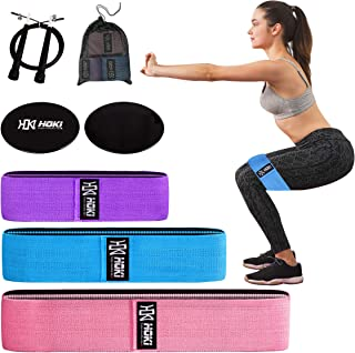Resistance Booty Sling Workout Bands for Men and Women 3 Levels - Best Abductor Resistance Fabric Band for Squats - Ideal Hip Band Circle for Lunges - Premium Hip Band for Hips & Glutes Exercises